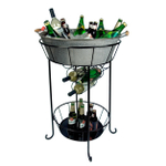Artland Oasis Distressed Galvanized Steel Party Station