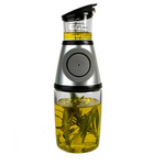 Artland Press and Measure Glass Herb with Oil Infuser, 8.5 Ounce