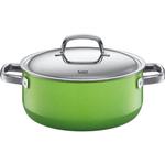 WMF Fresh Colors Lemon Green Low Casserole Pan With Lid, 4.5 Quart