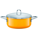 WMF Fresh Colors Crazy Yellow Low Casserole With Lid, 4.5 Quart