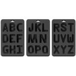 Suck UK 3 Piece Black Silicone Alphabet Ice Cube Tray Set