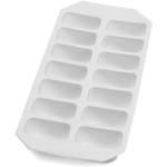 Lekue Gourmet White Rubber Rectangle Ice Cube Tray