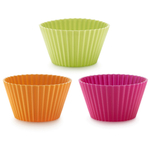 Lekue Multicolored Silicone Big Muffin Cup, Set of 6