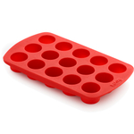 Lekue Red Silicone Cylinder Chocolate Mold Pan