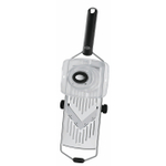 Rosle 18/10 Stainless Steel Adjustable Vegetable Slicer with Black Grip