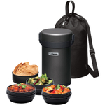 Zojirushi Gunmetal Gray Stainless Steel Vacuum Insulated Tiffin Box