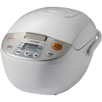 Zojirushi Micom 5.5 Cup Beige Stainless Steel Rice Cooker and Warmer