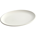 Rachael Ray Rise White Stoneware Oval Platter