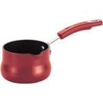 Rachael Ray Hard Enamel Red Porcelain Butter Warmer, .75 Quart
