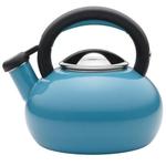 Circulon Sunrise Turquoise Enamel on Steel Teakettle, 2 Quart