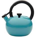 Circulon Circles Capri Turquoise Enamel on Steel Teakettle, 2 Quart