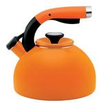 Circulon Morning Bird Mandarin Orange Carbon Steel Teakettle, 2 Quart