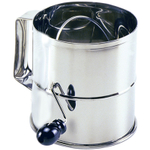 Norpro Mirrored Stainless Steel Flour Sifter, 8 Cup