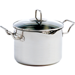 Norpro Krona Stainless Steel Straining Pot with Lid, 7.5 Quart