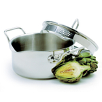 Norpro Krona Stainless Steel Straining Pot with Lid, 3 Quart