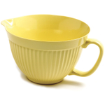 Norpro Grip-EZ Lemon Yellow Melamine Batter Mixing Bowl, 4 Quart