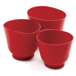 Norpro Red Silicone 3 Piece Bowl Set