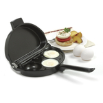 Norpro Steel Nonstick Omelet Pan with Poacher
