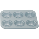 Foxrun Non-Stick Fluted 6 Cup Muffin Pan