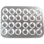 Foxrun Stainless Steel Mini Muffin Pan, 24 Cup