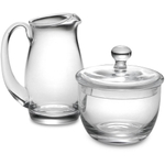 Luigi Bormioli Michelangelo Glass Sugar and Creamer Set