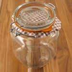 Kilner Glass Square Clip Top Jar, 34 Ounce