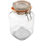 Kilner Glass Square Clip Top Jar, 68 Ounce