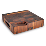 John Boos Walnut Chopping Block with 2 Knife Slots and Hand Grip, 12 Inch