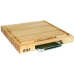 John Boos Newton Prep Master Maple Cutting Board with Juice Groove and Pan, 18 Inch