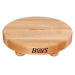 John Boos Maple Round Cutting Board with Feet, 12 Inch