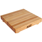 John Boos Maple Square Cutting Board with Feet, 12 Inch