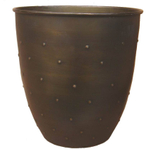 Antique Dot Bronze Metal Waste Can