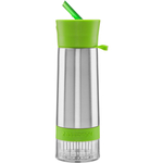 Zing Anything Aqua Zinger 18/8 Stainless Steel Green Fruit Fusion Water Bottle, 20 Ounce