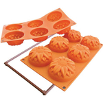Silikomart Fancy and Function Sunflower Orange Silicone Multi Cake Pan