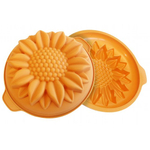 Silikomart Fancy and Function Orange Silicone Low Sunflower Cake Pan