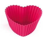 Silikomart Love Pink Silicone Baking Cup, Set of 6