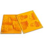 Silikomart Baby Line Yellow Silicone Happy Toys Baking Mold