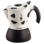 Bialetti Mukka Express Cow Print Electric Cappuccino Maker, 2 Cup