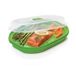 Progressive International Green Microwaveable Fish and Veggie Steamer