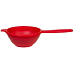 Progressive International Red Silicone Collapsible Hand Strainer, 1.5 Quart