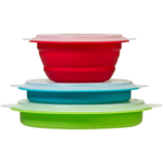 Progressive International Silicone Collapsible Prep Bowl, Set of 3