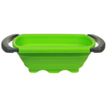 Progressive International Green Silicone Collapsible Over the Sink Colander, 6 Quart