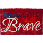 Entryways Home of The Brave Hand Woven Coir Doormat, 17 x 28 Inch
