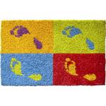 Entryways Footprints Hand Woven Coir Doormat, 18 x 30 Inch
