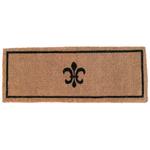 Entryways Extra Thick Fleur Dy Lys Hand Woven Coir Doormat, 36 x 72 Inch