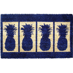 Entryways Four Pineapples Extra Thick Hand Woven Coir Doormat, 18 x 30 Inch