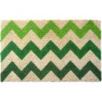 Entryways Chevron Hand Woven Coir Doormat, 18 x 30 Inch