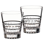 Riedel Vinum Leaded Crystal Square Design 13.25 Ounce Tumbler, Set of 2