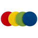 Le Creuset Muli-Color Silicone French Coaster, Set of 4
