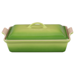 Le Creuset Heritage Palm Stoneware Covered Rectangular Casserole Dish, 4 Quart